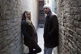 "Sarah Blackwood and Gianni Luminati from Walk off the Earth pose for a photo as they promote their new album ""R.E.V.O."" in Toronto on Tuesday, March 5, 2013. THE CANADIAN PRESS/Chris Young"