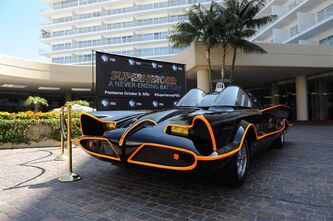 "The ""Batmobile"" is shown in Los Angeles on Monday, August 5, 2013. This week, one of the biggest TV stars of the past 50 years pulled up in front of a hotel where critics from across North America have been gathering-and didn't even come inside. She didn't have to. Everybody instantly recognized her and came out to meet her: Holy classic chassis! It was The Batmobile. The car arrived by trailer at the request of the PBS network, which was promoting ""Superheroes: A Never-ending Battle,"" a look inside the world of comic book crime fighters. The series will air in October. THE CANADIAN PRESS/HO - PBS"