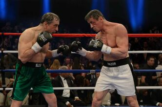 Robert DeNiro (left) and Sylvester Stallone in Grudge Match.