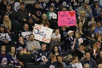 Some 5000 fans showed up to take in the opening day of Winnipeg Jets training camp in Winnipeg on Sunday, January 13, 2013. THE CANADIAN PRESS/John Woods