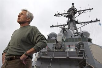 U.S. Secretary of Defense Chuck Hagel answers question aboard the USS Stethem DDG 63 at Fleet Activities Yokosuka, a U.S. Naval base in Yokosuka, outside of Tokyo on Friday Oct. 4, 2013. After speaking to sailors on the guided missile destroyer, Hagel is returning to Washington, completing his trip to South Korea and Japan. (AP Photo/Jacquelyn Martin, Pool)