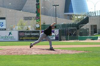 Gophers pitcher Adam Wowryk.