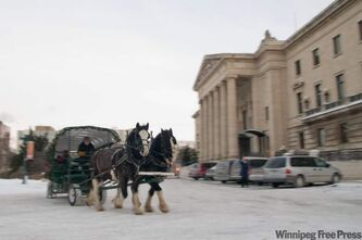 Horse-drawn sleigh rides have been popular at previous years' New Year's levees at the legislature.