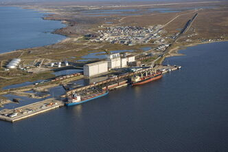The Port of Churchill handled more than 600,000 tonnes of grain last year.