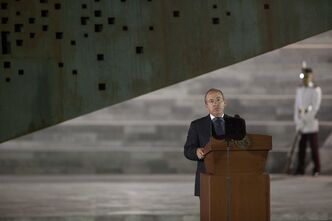 FILE - In this Tuesday, Nov. 20, 2013, file photo, Mexico's President Felipe Calderon delivers a speech during a ceremony in Mexico City. Mexico's president is making one last attempt to get the