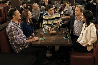 This undated image released by CBS shows, from left, Jason Segel, Alyson Hannigan, Josh Radnor, Neil Patrick Harris and Cobie Smulders in a scene from