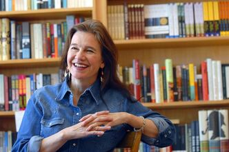 FILE - This May 16, 2008 file photo shows author Louise Erdrich at her store BirchBark Books in Minneapolis. Erdrich and Junot Diaz are among the finalists for a literary prize chosen by the American Library Association, announced Monday, April 22, 2013. Diaz's