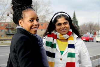 Florence 'Flo' Oramasionwu (left) and Sangeetha Nair are the co-founders of the Hateless tour.
