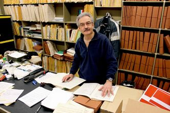 Ray Chrunyk, first violin and principal librarian at the Winnipeg Symphony Orchestra. Though he will remain the librarian, he will be retiring from playing in the orchestra.