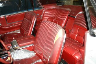 The interior of Boonstra's 1966 Thunderbird needs some work done to restore it to its former glory.