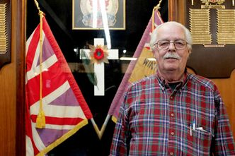 William Douglas is former president of the Royal Canadian Legion Branch No. 1 at 626 Sargent Ave. He served in the reserves from 1952-53, and joined the Royal Canadian Air Force in 1953.
