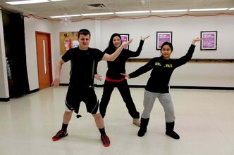 Nathan Martins (left), Stephanie Okabe, and Denice Linag will be participating in the second annual zumbathon at General Wolfe School (661 Banning St.). Funds will go to both the school's dance program and Variety the Children's Charity of Manitoba.