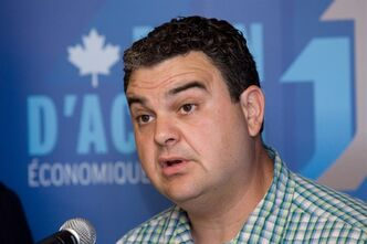 Conservative MP Dean Del Mastro announces the launch of a new loans program worth $20M for Southern Ontario businesses at the offices of the Eastern Ontario Community Futures Development Corp. in Peterborough, Ont., on Wednesday, July 4, 2012. Del Mastro is demanding that Elections Canada put its cards on the table after more than a year of unresolved allegations concerning his 2008 campaign expenses.THE CANADIAN PRESS/Peter Redman