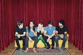 From left to right, the band members of Walk off the Earth members (from left), Joel Cassady, Gianni Luminati, Sarah Blackwood, Marshall and Taylor, are shown. THE CANADIAN PRESS/HO