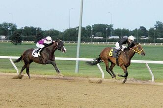 Balooga Bull beats nemesis Magic D' Oro at the Wheat City Stakes.