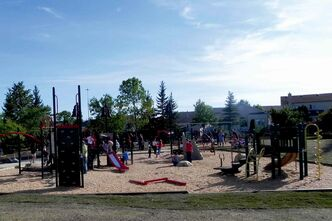 John Coulter Park's new play structure was recently completed.