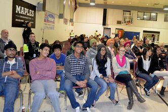A community safety forum held at Maples Community Centre Oct. 15 drew a crowd of about 150 residents.