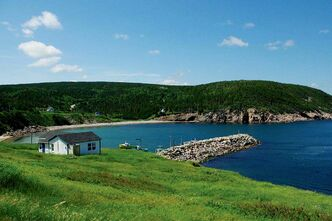 One of the many beautiful views to be taken in while visiting Cape Breton Island.