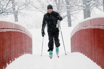 In this file photo, John Maguire takes full advantage of all the snow while enjoying a late afternoon cross country ski run at the Windsor Park Nordic Ski Centre.