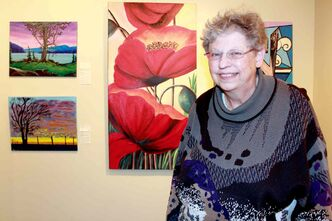 Artist Bev Morton, owner and manager of the Wayne Arthur Gallery, hopes community members will stop by the gallery to check out It Came from a Book I read: The Annual Group Show exhibit before it ends Dec. 27.