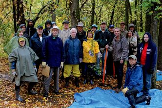 The Crescent Drive Park Rescue came together Saturday to take on the stubborn and invasive European buckthorn shrub.