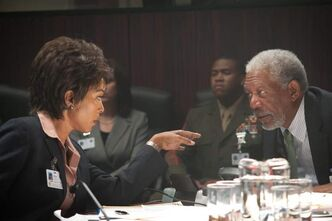 Angela Bassett and Morgan Freeman are political heavy-hitters reduced to  watching the terror unfold.