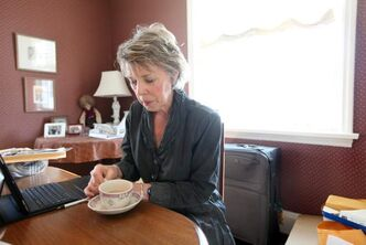 Susan Griffiths spends one of her last days at home on April 4.