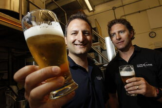 Chris and Lawrence Warwaruk, owners of Luxalune Gastropub, are ready for the Flatlanders Beer Festival.