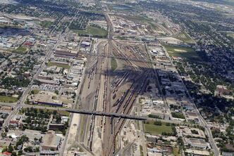 The CP rail yards.