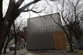 Almost nothing works right on the Exchange District's $1.2-million Cube stage.
