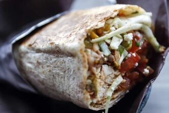 The chicken burrito at Burrito Splendido on Portage Avenue.
