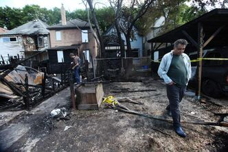 Three homes were damaged in a Home St. blaze early Saturday morning.