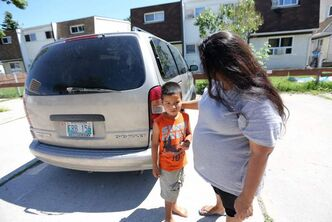 Priscilla Franklin, reconnects with her son, Jaden, 5, the moment he reappears Saturday after being missing since 9 p.m. Friday near their Marlow Court home in the Maples.