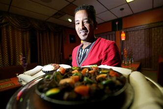 Girma Tessema, owner of Blue Nile Restaurant.
