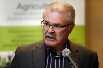 Federal Agriculture minister Gerry Ritz  was in Winnipeg to announce support for a review of Canada's grain logistics system.
