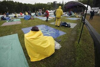 The weather outside was frightful Sunday at Birds Hill Park during the final day of the Winnipeg Folk Festival.