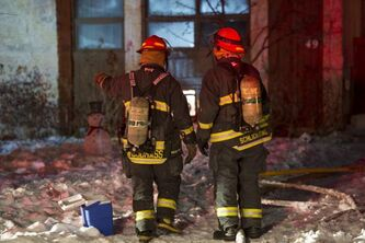 Firefighters put out a house fire on Mapleridge Avenue.