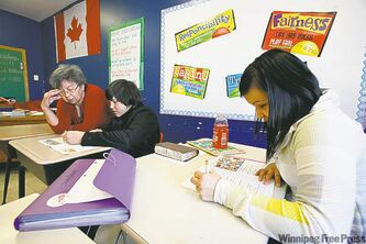 The school was set up 10 years ago at the request of parents from Peguis First Nation.