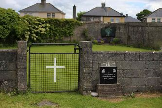 The site of a mass grave for children who died in the Tuam mother and baby home, in Tuam County Galway Wednesday. County Galway death records showed that the children, mostly babies and toddlers, died often of sickness or disease in the orphanage during the 35 years it operated from 1926 to 1961.
