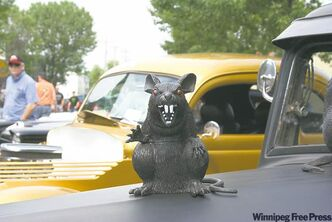 A mascot puts the 'rat' in rat rod.