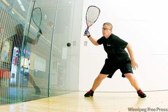 Jennifer Saunders, Canada's top-ranked women's racquetball player, is demanding a medal performance from herself.