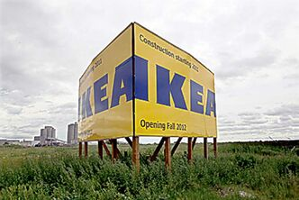 The Ikea construction site on Keneaston Blvd.