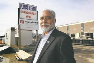 "Amarjeet Warraich at the construction site of the Punjab Centre: ""It took so long because we wanted to do it right."""