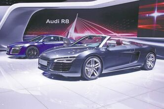 Audi revealed the facelifted R8. The changes are very subtle and key on the lighting. While there are changes in the front bumper, it's the new LED headlights that give the look zing.