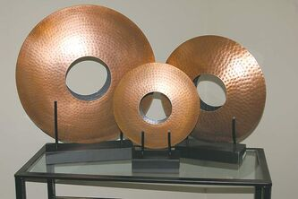 Metal sculpture trio for Kesay Design.