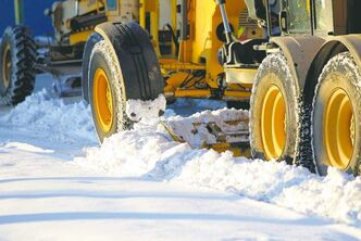 General snow clearing on Burrows Avenue Wednesday.
