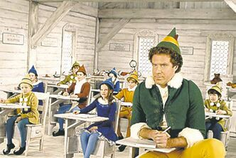 Elf, starring Will Ferrell