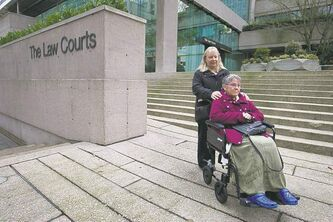 ALS victim Gloria Taylor was exempted from Canada's assisted-suicide law. She died in October of an unrelated illness.