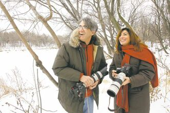 Eugenio Manghi and his wife Annalisa are Italian filmmakers working on a documentary in Riding Mountain National Park.