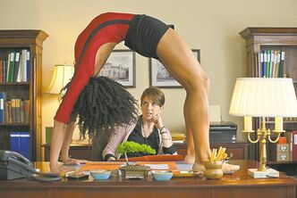 A wannabe Princeton student bends over backwards to impress admissions officer Portia Nathan (Tina Fey).